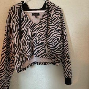victoria secret zebra hoodie